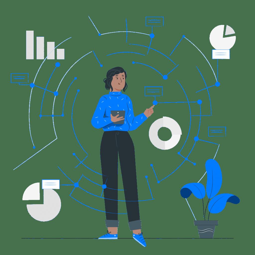 Osoba analizująca dane